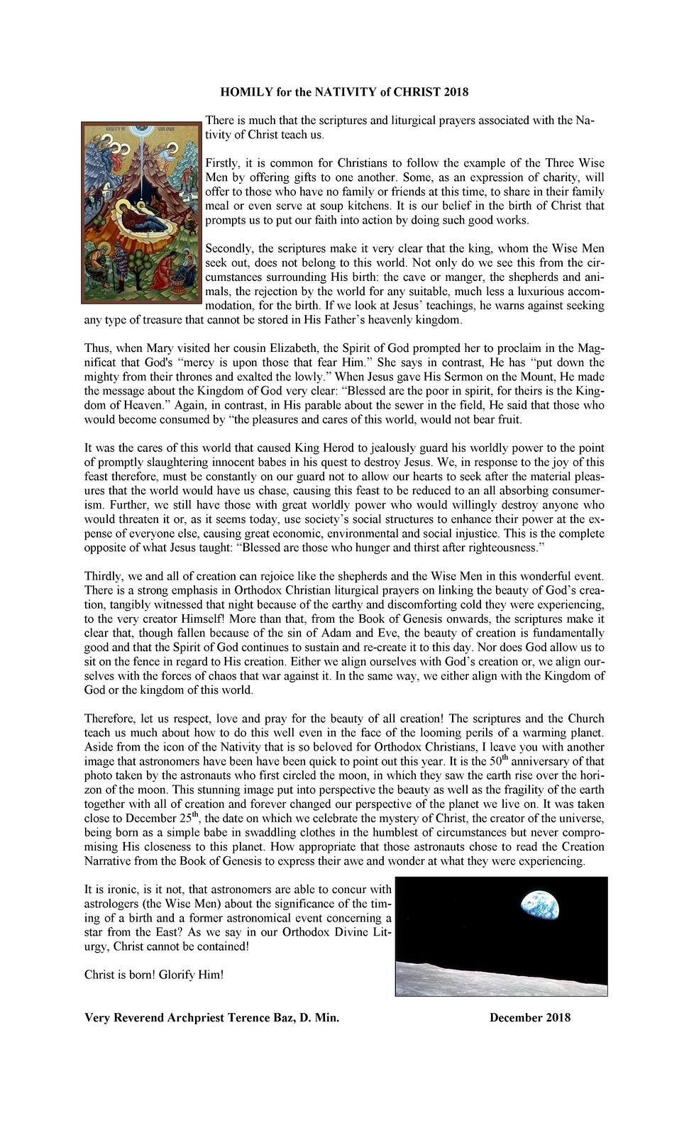 Holy Assumption Orthodox Church Rectory - Letters From Fr  Terence